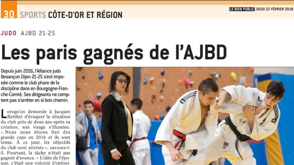 Les Paris gagnés de l'AJBD